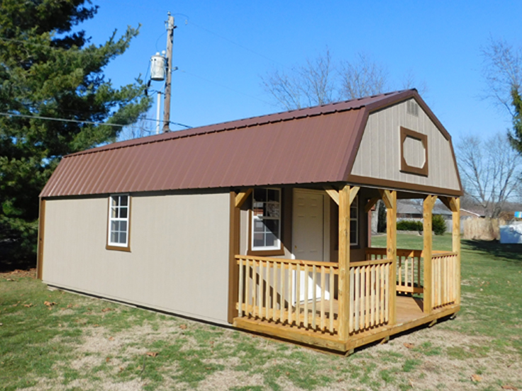 photo of painted Lofted Cabin
